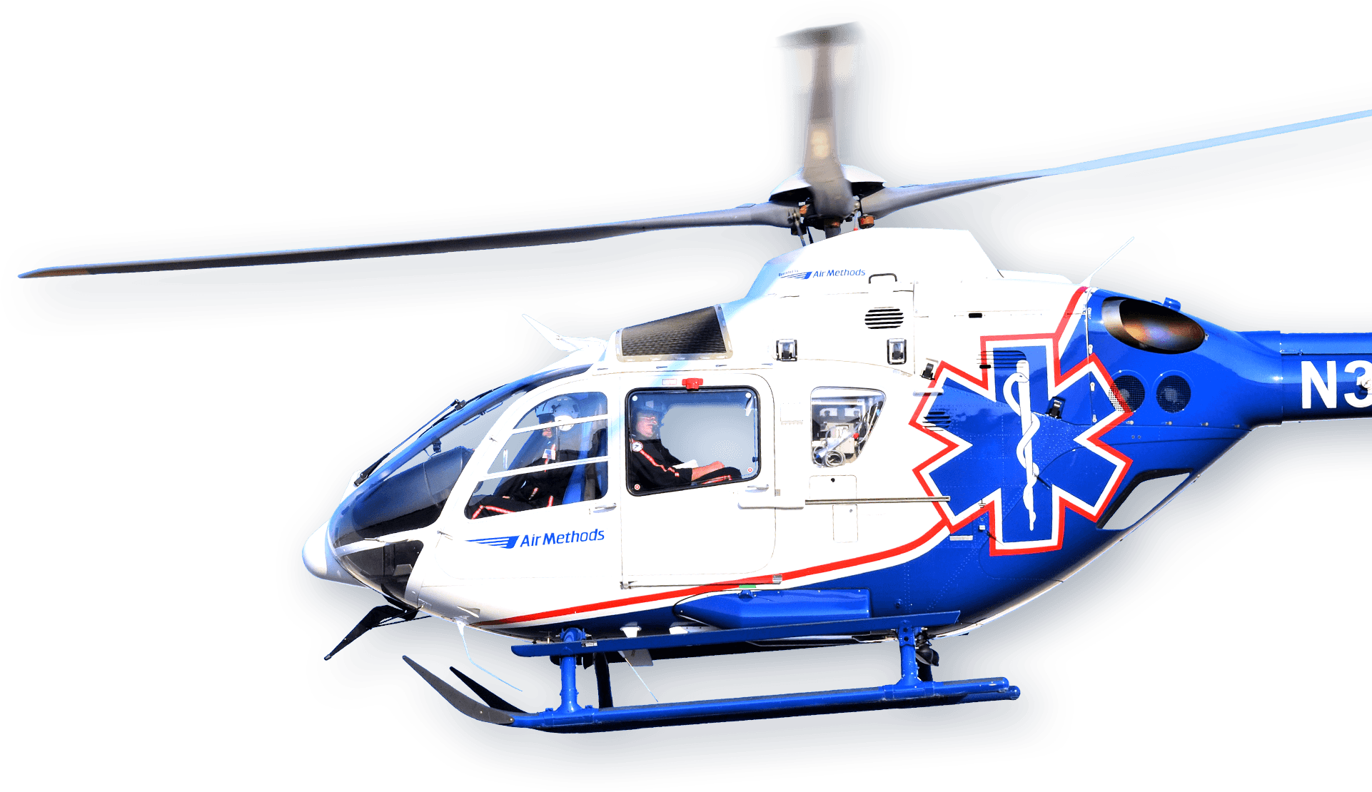 Air Methods helicopter.