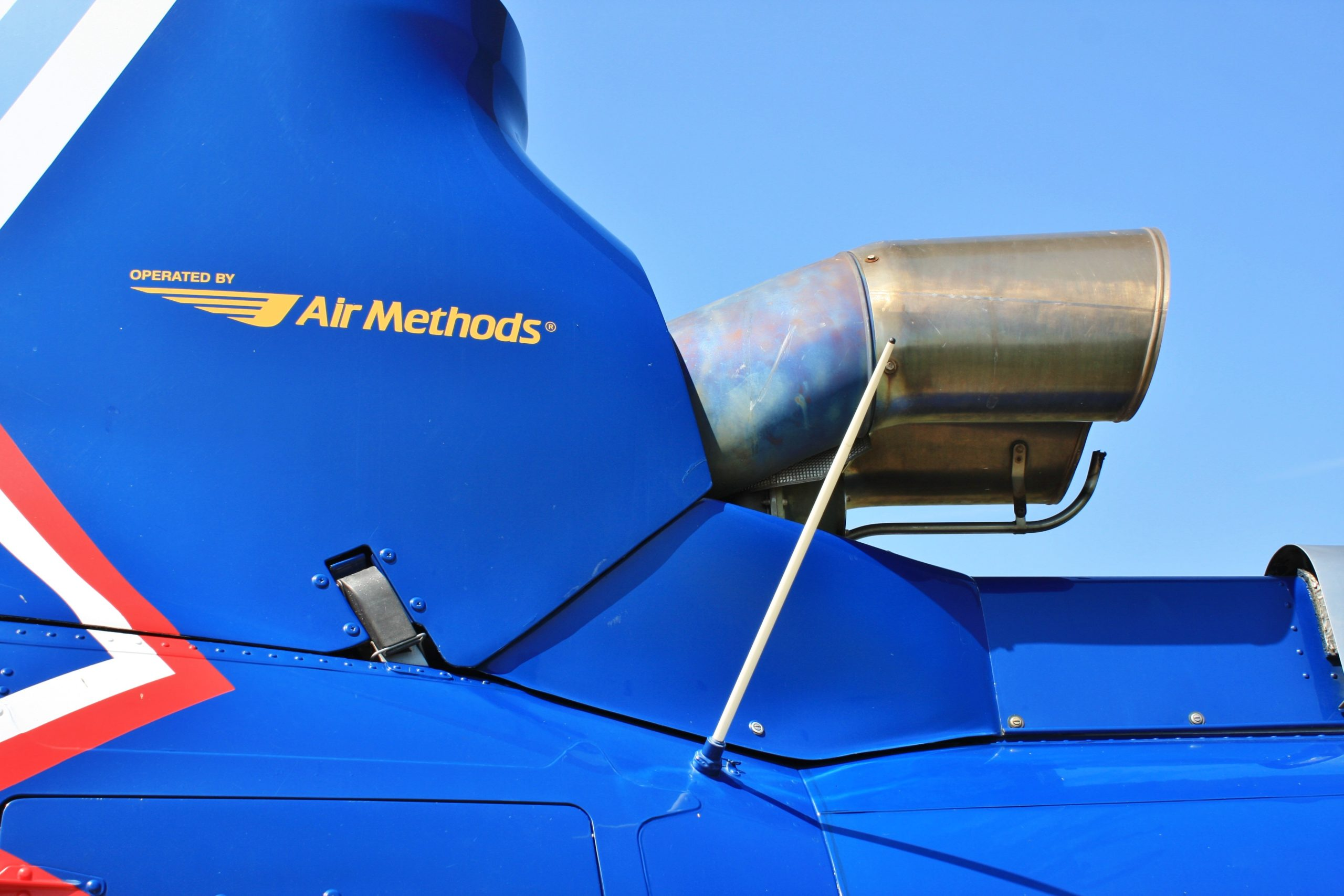 Air Methods' logo on aircraft.